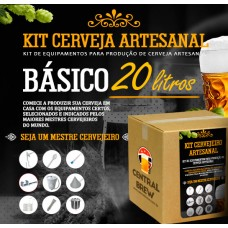 Kit cervejeiro artesanal - 20 litros - Básico (BIAB)