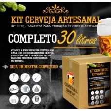 Kit cervejeiro artesanal - 30 litros - Completo