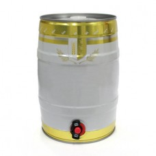 Mini Keg - Branco e Dourado - 5L