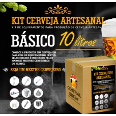 Kit cervejeiro artesanal - 10 litros - Básico (BIAB)